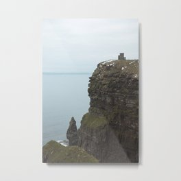 Castle on top of the Cliffs of Moher Metal Print