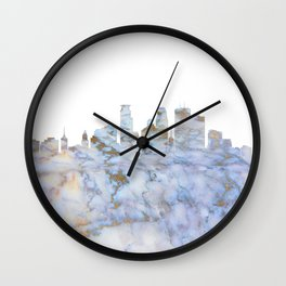 Minneapolis Skyline Minnesota Wall Clock