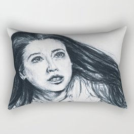 Drawing of Mary, mother of Jesus Rectangular Pillow