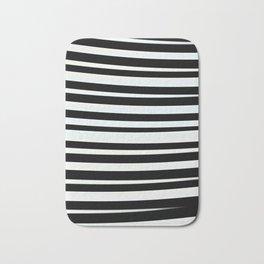 JUVIE - modern take on classic black and white stripes Bath Mat