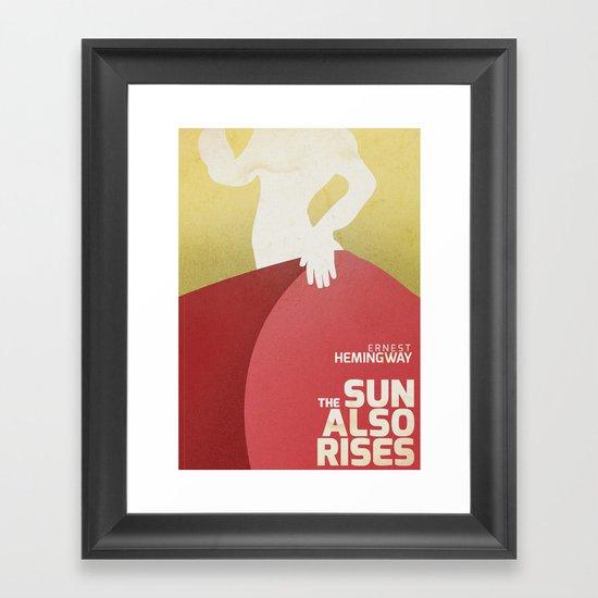 Book Cover Wall Art : The sun also rises fiesta ernest hemingway book cover