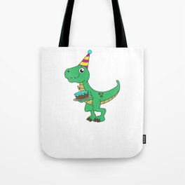 Best Gift for a 4yrs. old Dinosaur Lovers Tshirt Design Tote Bag