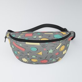 Basic Shapes in Gray Background Fanny Pack