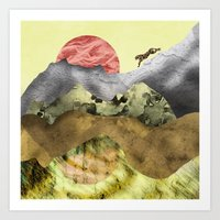 The mountain lion Art Print