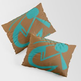 Teal Kokopelli Pillow Sham