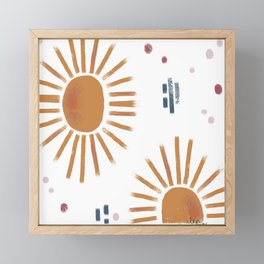 sunbursts Framed Mini Art Print