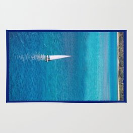Perfect Blue Sailing Day Rug