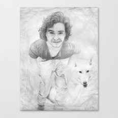 JON AND GHOST Canvas Print
