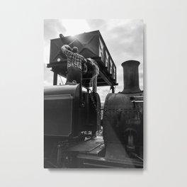 Steam Engine at Rhyd Ddu, Wales Metal Print