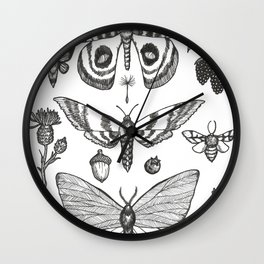 Natural History (Black) Wall Clock