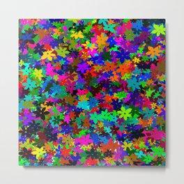 flowersfloral star rainbow Metal Print