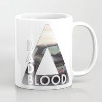 bastille Mugs featuring Bastille - Bad Blood by Thafrayer