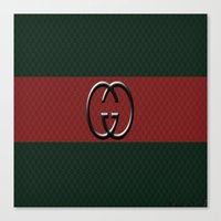 gucci Canvas Prints featuring Gucci 1 by Beauti Asylum