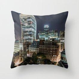 London, the Walkie Talkie Throw Pillow