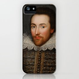 Vintage William Shakespeare Portrait iPhone Case
