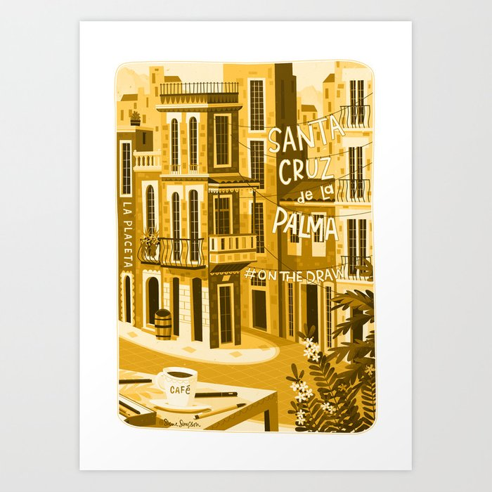 Santa Cruz de la Plama #onthedraw Art Print