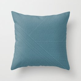 Minimal Bule Design Throw Pillow