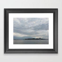 Clouds Over Governor's Island Framed Art Print