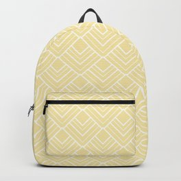 Summer in Paris - Sunny Yellow Geometric Minimalism Backpack