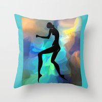 sound Throw Pillows featuring sound by tatiana-teni