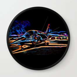 Neon Jet Wall Clock