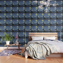 The Starry Night by Vincent van Gogh Wallpaper