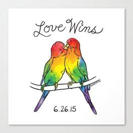 #LoveWins Birds Canvas Print