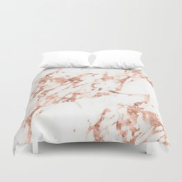 Rose Gold Marble - Perfect Pink Rose Gold Marble Duvet Cover