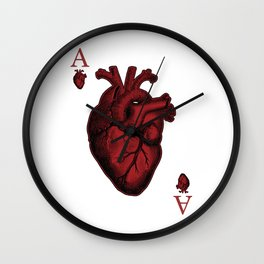 Ace of Hearts Wall Clock