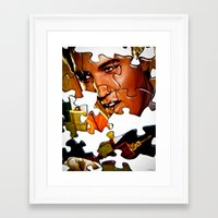 gentleman Framed Art Prints featuring Gentleman by Rick Staggs