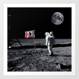 The Great Conspiracy: The Moon Is a Lie Art Print