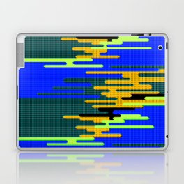 Blue Green Yellow 8Bit Clouds Laptop & iPad Skin
