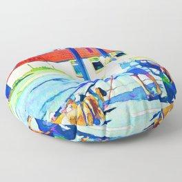 Florence Oregon - Dog Walker Floor Pillow