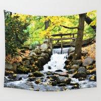 waterfall Wall Tapestries featuring Waterfall by Juliana RW