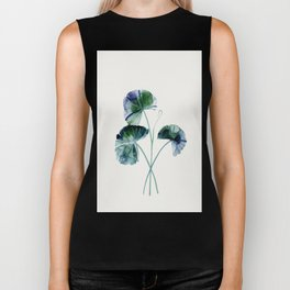 Water lily leaves Biker Tank