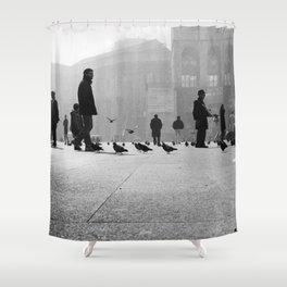 Duomo Square - Milan- Italy Photo by Andrea Scuratti Shower Curtain