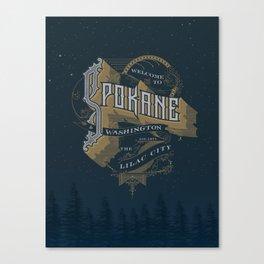 Welcome to Spokane Canvas Print