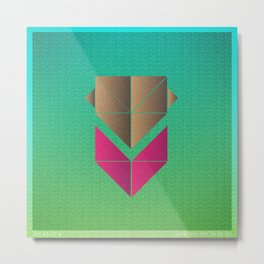 Music in Monogeometry : The Head and the Heart Metal Print
