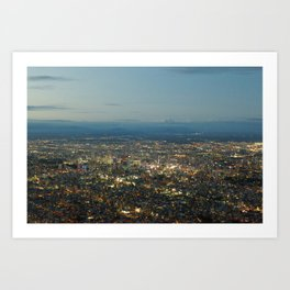 JAPAN AT NIGHT Art Print