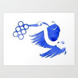 Heron (Keep it clean) Art Print