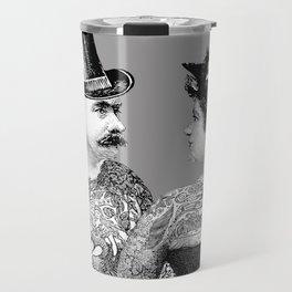 Tattooed Victorian Lovers Travel Mug