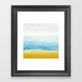 Waves and memories Framed Art Print