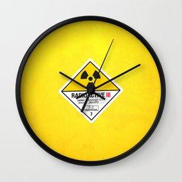 Radioactive sign Back to the future Wall Clock