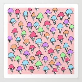 ice cream ice cream -1- Art Print