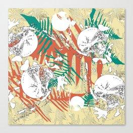 Abstract fern decorative print Canvas Print