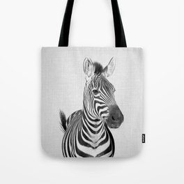 Zebra 2 - Black & White Tote Bag