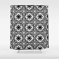 casablanca Shower Curtains featuring Arabic Style Pattern  by Barbo's Art