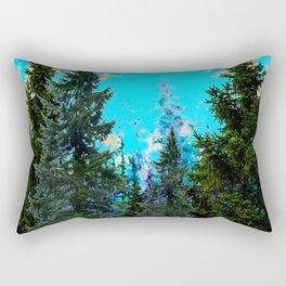 WESTERN PINE TREES MOUNTAIN GREY LANDSCAPE Rectangular Pillow