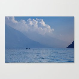 Lake Garda in the Blue Mist Canvas Print