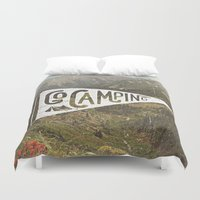 camping Duvet Covers featuring Go Camping by cabin supply co